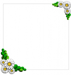daisy cartoon background vector image