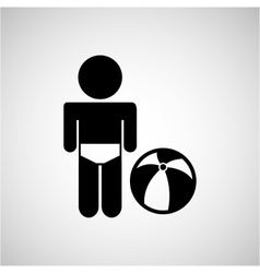 kid playing icon vector image
