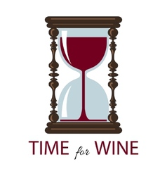 time for wine Color card vector image vector image