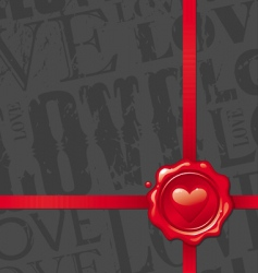 valentines design with heart vector image vector image