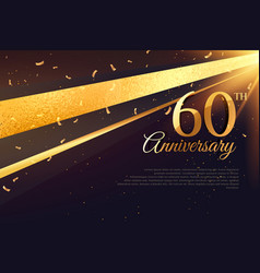 60th anniversary celebration card template vector image vector image