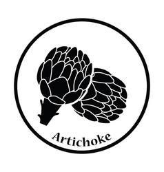 Artichoke icon vector image vector image