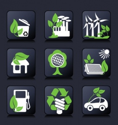 icons ecology vector image