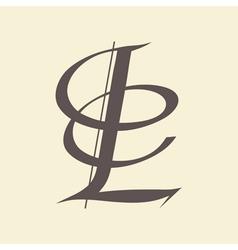 letter L vector image vector image
