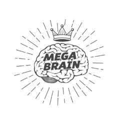 mega brain king vector image vector image