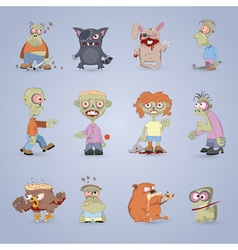 Zombie set2 vector image