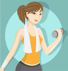 fitness girl 2 vector image vector image