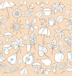pattern autumn vector image