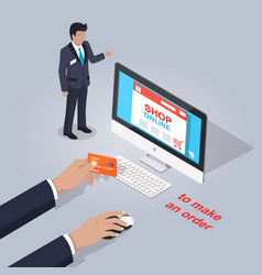 shop online make order from home vector image