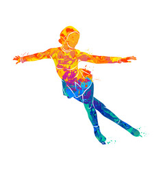 sport figure skating vector image vector image