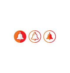 alarm alert logo icon vector image