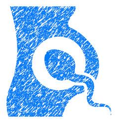 Artificial insemination grunge icon vector