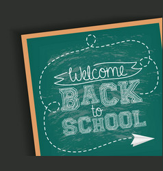 Back to school card with chalkboard and paper vector