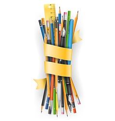 Batch of pencils vector image