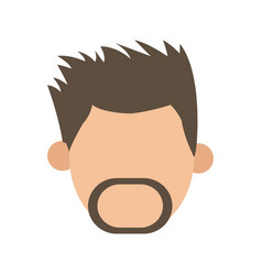 Beard man hairstyle faceless people character vector