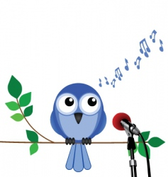 Bird song vector