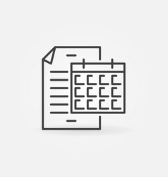 business report with calendar icon in thin vector image