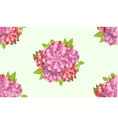 Camellia pattern cartoon style vector