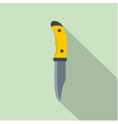 Camp knife icon flat style vector