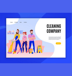 Cleaning company concept banner vector