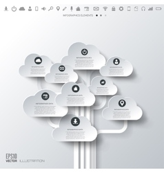 Cloud icon Flat abstract background with web vector