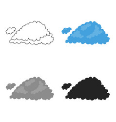 Cloud icon in cartoon style isolated on white vector