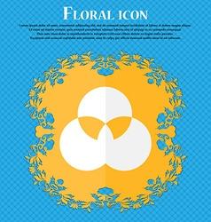 Color scheme icon sign Floral flat design on a vector