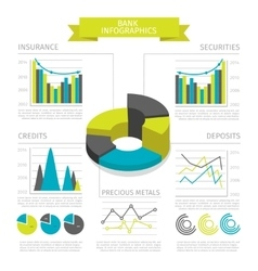 Colored Bank Infographic vector image