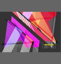 Colorful angle shape scene vector