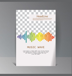 colorful sound waves banner isolated design vector image