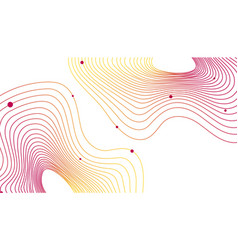 Colorful topographic line contour map background vector