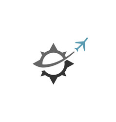 compass aircraft travel unique creative logo vector image