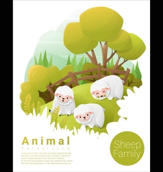 Cute animal family background with Sheep 2 vector