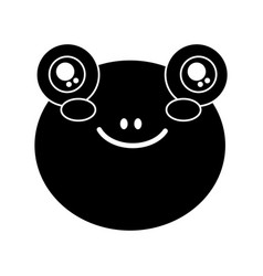 cute animal frog head baby vector image