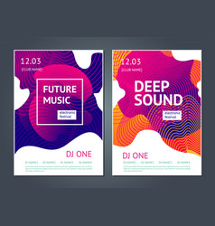 Deep sound abstract poster for electronic music vector