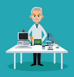 Doctor medical workspace vector