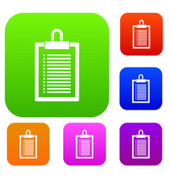 document plan set collection vector image