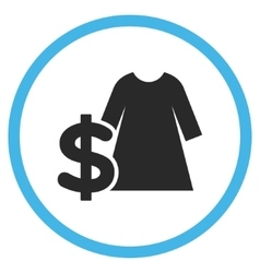 Dress Price Flat Rounded Icon vector