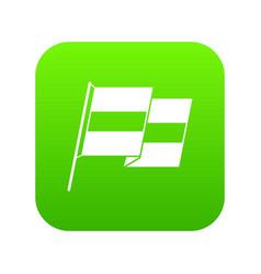 egyptian flag icon digital green vector image