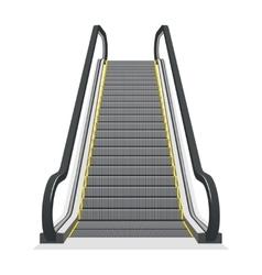 Escalator isolated on white background vector image