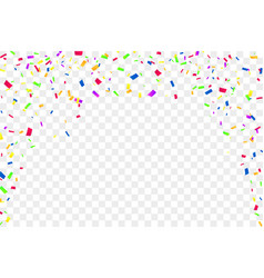 falling confetti isolated white transparent vector image