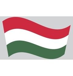 Flag of Hungary waving vector image