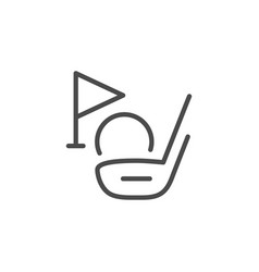 golf club line outline icon vector image