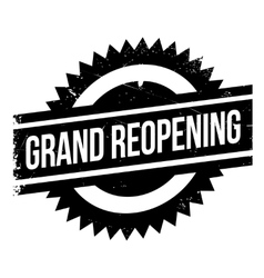 Grand reopening stamp vector image
