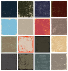grunge panels vector image