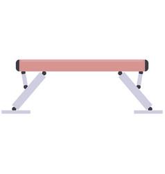 Gymnastic balance beam vector