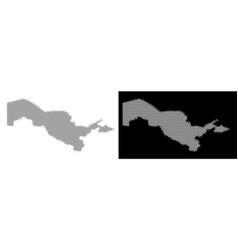 Halftone uzbekistan map vector