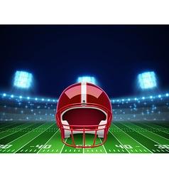 helmet and american football field eps 10 vector image