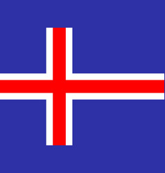 iceland national flag vector image