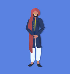 indian man standing in national traditional vector image